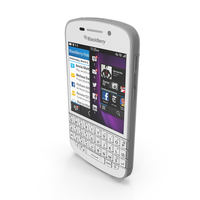 Blackberry Q10 Smartphone White PNG & PSD Images
