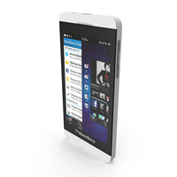 Blackberry Z10 Smartphone White PNG & PSD Images