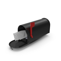 Personal Mailbox with Envelopes PNG & PSD Images