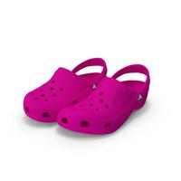 Crocs Shoes, Sandals, & Clogs in Pink Color PNG & PSD Images
