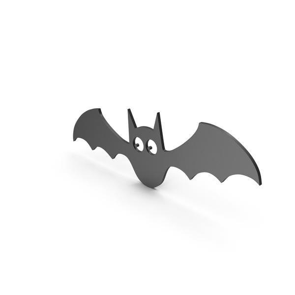 Bat Figure Cartoony Black PNG & PSD Images