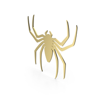 Spider Figure Gold PNG & PSD Images