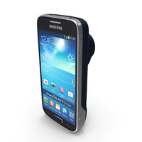 Samsung Galaxy S4 Zoom Android Smartphone in Blue PNG & PSD Images