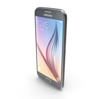 Samsung Galaxy S6 Sapphire Black PNG & PSD Images