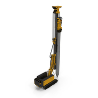 Pile Driver Bauer RG16T Working Position PNG & PSD Images