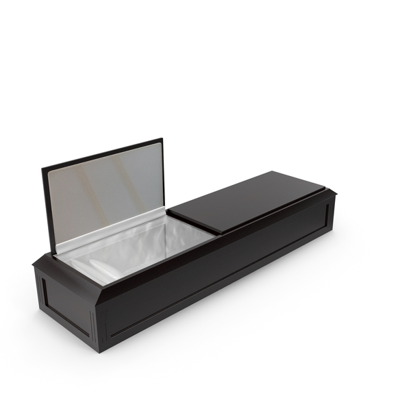 Classic Wood Coffin PNG & PSD Images
