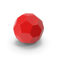 Hexagon Ball Red PNG & PSD Images