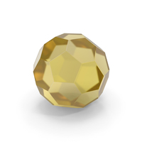 Glass Hexagon Ball Yellow PNG & PSD Images
