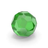 Glass Hexagon Ball Green PNG & PSD Images