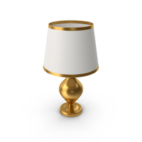 Table Lamp Gold PNG & PSD Images