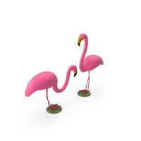 Pink Flamingo Lawn Decor PNG & PSD Images