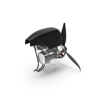Piston Engine with Propeller PNG & PSD Images