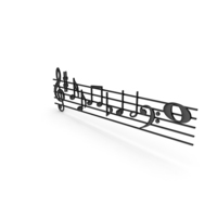 Plastic Music Stave and Notes PNG & PSD Images