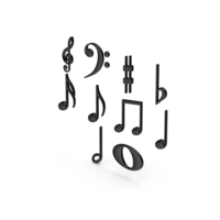 Plastic Musical Notes PNG & PSD Images
