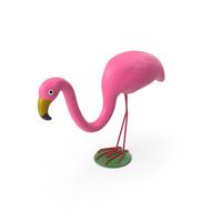 Plastic Pink Flamingo Lawn Garden Decor PNG & PSD Images