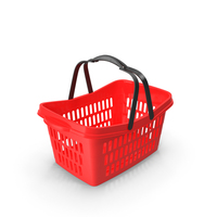 Plastic Shopping Basket with Plastic Handles PNG & PSD Images