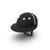 Polo Helmet Black Fabric PNG & PSD Images