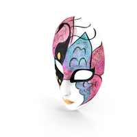 Porcelain Wall Decor Female Mask PNG & PSD Images