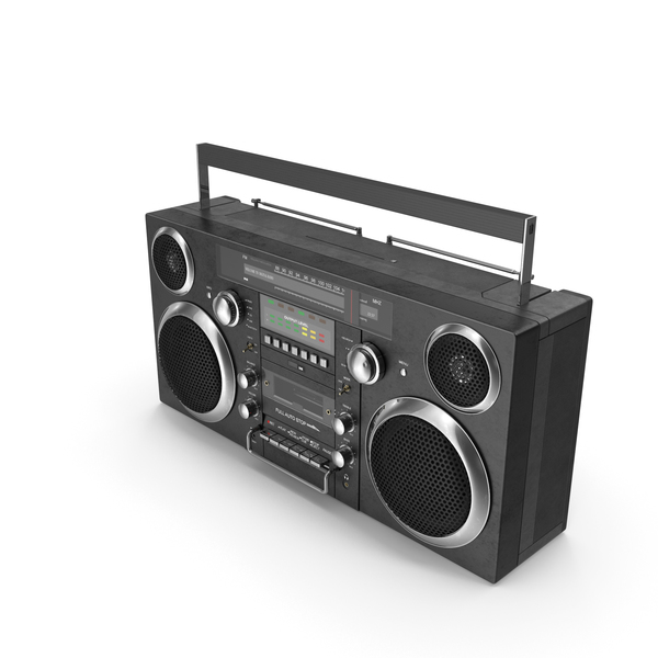 Portable Cassette Boombox PNG & PSD Images