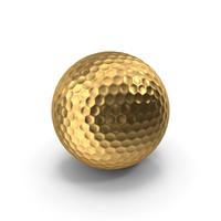 Golden Golf Ball PNG & PSD Images