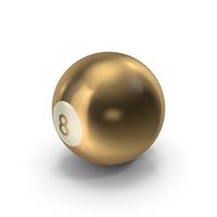 Golden 8 Ball PNG & PSD Images