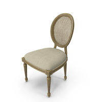 French Country Dining Chair PNG & PSD Images