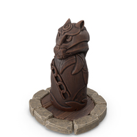 Fenrir Norse Wolf Statuette PNG & PSD Images