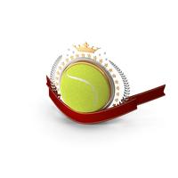 Tennis Laurel Emblem Banner PNG & PSD Images