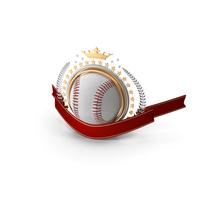 Baseball Laurel Emblem Banner PNG & PSD Images