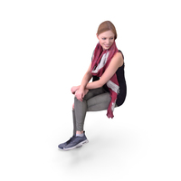 Woman Sitting Cross Legged in Casual Dress PNG & PSD Images