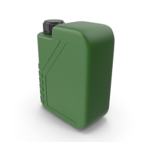 Green Plastic Jerrycan with Black Cap PNG & PSD Images