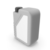 Grey Plastic Jerrycan with Black Cap and Logo PNG & PSD Images