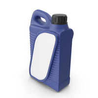 Blue Plastic Jerrycan with Black Cap and Logo PNG & PSD Images