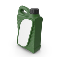 Green Plastic Jerrycan with Black Cap and Logo PNG & PSD Images