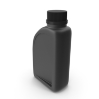 Black Plastic Jerrycan with Black Cap PNG & PSD Images
