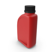 Red Plastic Jerrycan with Black Cap and Logo PNG & PSD Images