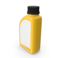 Yellow Plastic Jerrycan with Black Cap and Logo PNG & PSD Images