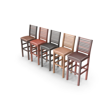 Wooden Bar Stools PNG & PSD Images