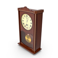 Wooden Wall Clock PNG & PSD Images