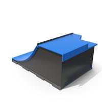 Skateboard Ramps Blue PNG & PSD Images