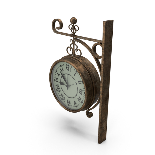 Analog Railway Clock PNG & PSD Images