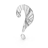 Question Mark Broken Glass PNG & PSD Images