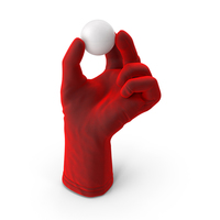 Glove Holding a Ping Pong Ball PNG & PSD Images