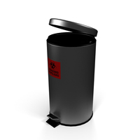 Large Round Stainless Steel Waste Receptacle PNG & PSD Images