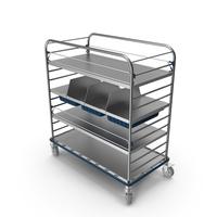 Medical Large Distribution Cart PNG & PSD Images