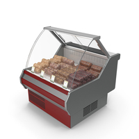 Refrigerated Showcase with Aspic PNG & PSD Images