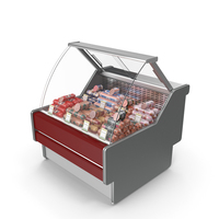 Refrigerated Showcase with Boiled Sausages PNG & PSD Images