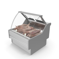 Refrigerated Showcase with Pork PNG & PSD Images