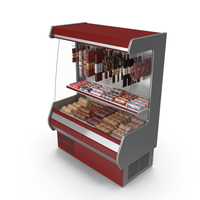 Refrigerated Showcase with Sausages PNG & PSD Images