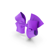 Purple Hair Bow PNG & PSD Images